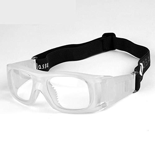 Uteruik Brille Sport-Schutzbrille - Basketball Fußball Eyewear Augenschutz für Erwachsene, Weiß