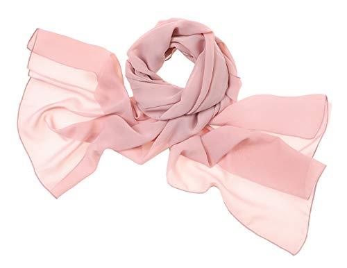bridesmay Chiffon Stola Schal Scarves für Kleider in Verschiedenen Farben Blush S