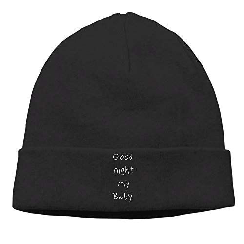 Preisvergleich Produktbild Men's Good Night My Baby Cool Hip-Hop Black Beanies Hat