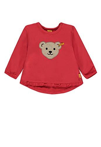 Steiff Baby - Mädchen Sweatshirt 1/1 Arm Sweatshirt, per Pack Rot (Hibiscus|red 2104), 68 (Herstellergröße: 68)