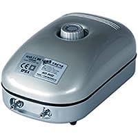 Hailea 10-455-405 - Bomba de aire regulable ACO9602 - 432 Lph con 2 salidas de 4 mm, 13 x 8 x 20 cm, color gris