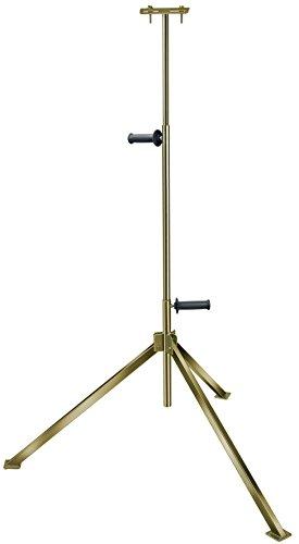 Brennenstuhl Stativ für Baustrahler/stabiles Teleskop-Stativ für Fluter (zur Aufnahme von 1 Strahler, höhenverstellbar bis 2,5 Meter) Farbe: silber