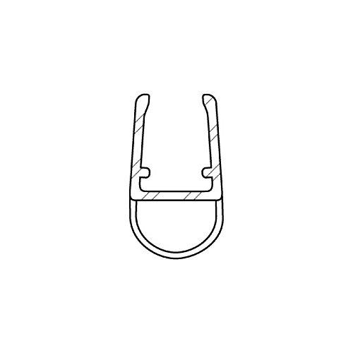 DIWARO Duschdichtung DD027 | transparent | Länge 1000mm oder 1240mm | Ersatzdichtung für Dusche | für Eckduschen, Fünfeckduschen, Nieschen (1000mm)