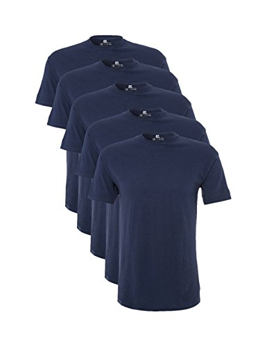 Lower East Herren T-Shirt mit Rundhalsausschnitt, 5er Pack, Gr. X-Large, Blau (Black Iris)