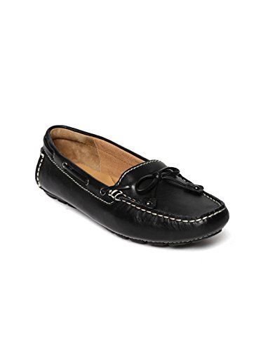 Clarks Women Black Leather Boat Shoes