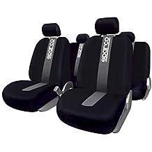 SparcoSPC1012 Juego de fundas para asientos de coche, color negro y gris, modelo CLASSIC