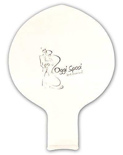 'Girm®-s5826-Einzelstück, Folienballon Just Married weiß-Ball Aufblasbarer Riesen weiß mit Aufschrift