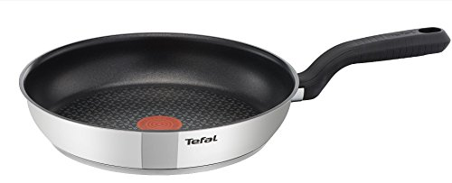 Tefal Comfort Max Stainless Steel Non-Stick Frying Pan, 20 cm - Silver