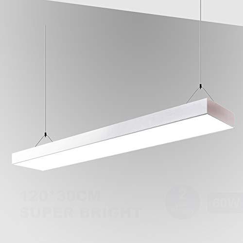 Natur panel led 120x30cm 60W 7500lm,Concha blanca iluminacion led Blanco neutro 4000K...