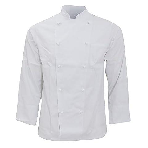 Karlowsky Basic - Veste de chef 100% coton - Adulte unisexe (XL) (Blanc)