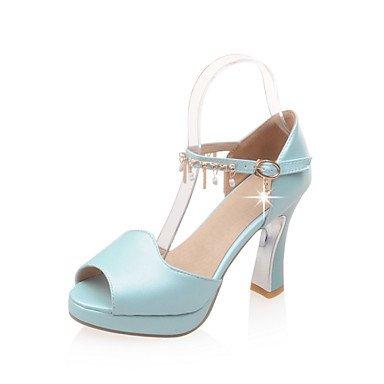 LFNLYX Donna Sandali Primavera Estate Autunno altri similpelle Office & Carriera Party & abito da sera Casual blu catena Rosa Bianco Blue