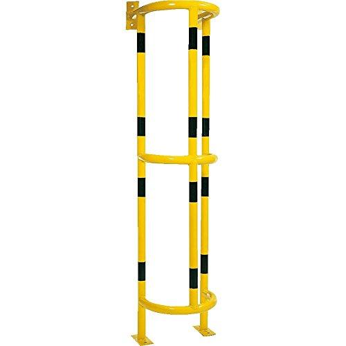 ROBUSTO Fallrohrschutz aus Stahl, 163 cm, gelb schwarz, zum Aufdübeln aus Stahl