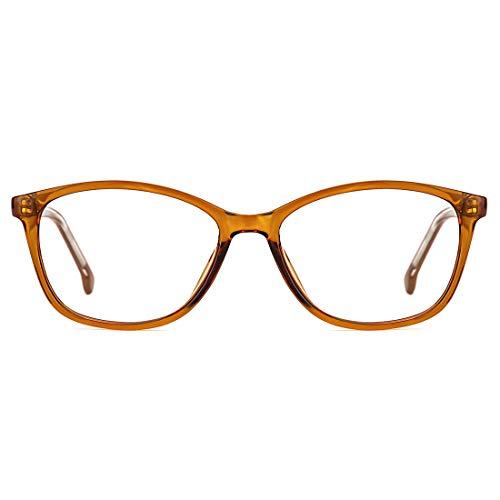 TIJN Blaulichtfilter Brille Computer-Brille Blockieren von UV-Kopfschmerz und Augenbelastung,Gaming Brillen für PC