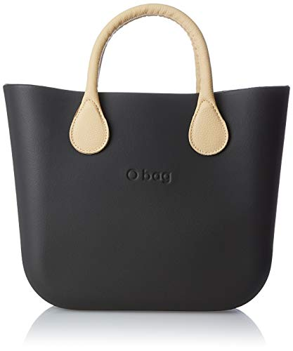 O bag B002_055, Borsa a Mano Donna, Nero, 11x31x40 cm (W x H x L)