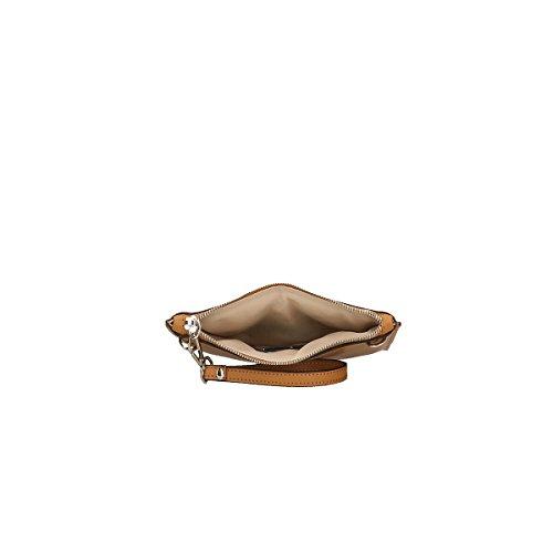 Chicca Borse echtes Leder Schultertasche 25x17x2 Cm Leder