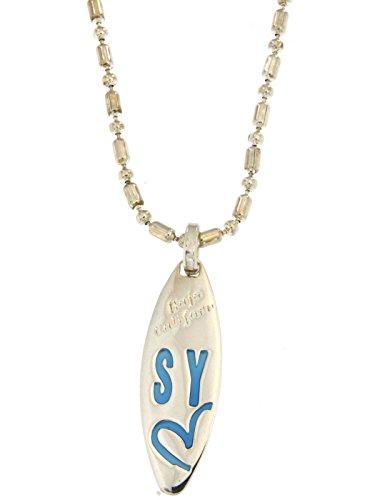 Collana sweet years in argento con targhetta ovale logata art.s0227