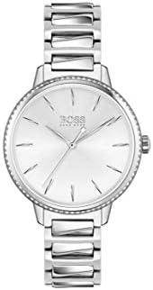 ساعة يد كوارتز بعرض انالوج للنساء مع سوار ستانلس ستيل من هوغو بوس - 1502539