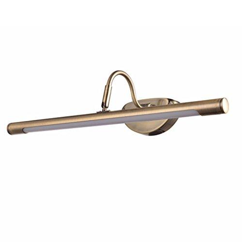 Longshien Bad Beleuchtung LED-Leuchten Spiegel retro Schrank Badezimmer Spiegelleuchten Badezimmerspiegel Lichter pastoral Spiegelfrontleuchten, Wandleuchten ( Farbe : Warmweiß-10w62cm )