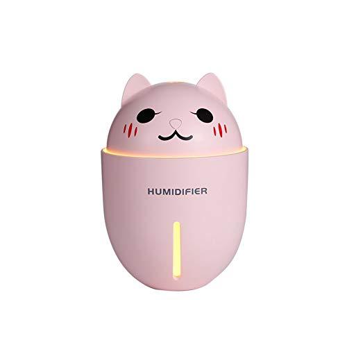 Panamami Meng Pet multifunción Tres en uno luz Nocturna pequeño Ventilador Mini USB humidificador - Rosa