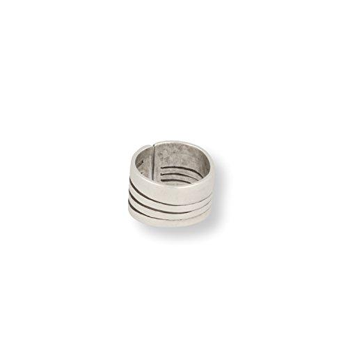 Roberto Leonardi Ring LILJA - Zeitloses Design mit Echtsilber-Plattierung in Altsilber-Optik