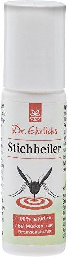 Dr. Ehrlichs Stichheiler 20ml – Mücken-Stift schnelle Hilfe gegen Insekten - 100% Natürlich - Praktischer Roll-ON Pflegestift