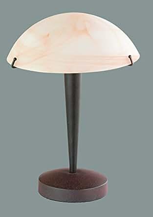 trio leuchten 5925011 24 tischleuchte touch me glas amber rostfarbig beleuchtung. Black Bedroom Furniture Sets. Home Design Ideas