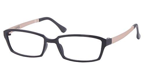 Comfortsight Black Gold Very Flexible, Unbreakable & Light Weight Ultem Eye Glass Frame For Unisex
