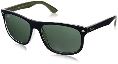 Ray-Ban INJECTED MAN SUNGLASS - TOP MAT BLUE ON MILITARY Frame DARK GREEN Lenses 59mm Non-Polarized
