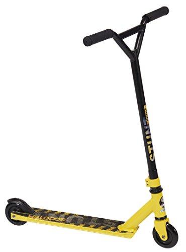 Preisvergleich Produktbild Stamp–jb246001–Scooter Freestyle–Rahmen Stahl–Räder 88A PU–ABEC 5–BREMSKLÖTZE auf Schutzblech–Tablett, Anti Rutsch/Aluminium–490–100mm–gelb