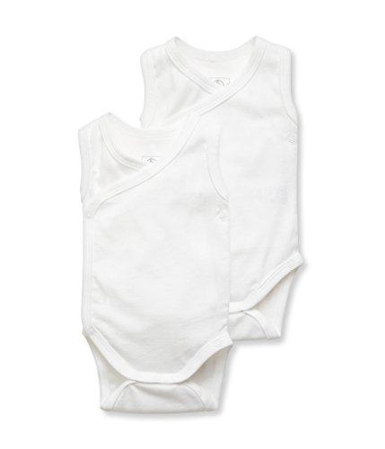 Petit Bateau lot 2 naiss. SM Body Mixte bébé Blanc (Special Lot 00) 0-3 mois (Taille fabricant: 1M) Lot De 2