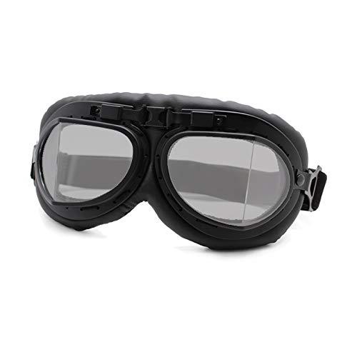 luoshui Motorrad-Brille Gläser Vintage Motorbike Classic Brillen Retro Aviator Für Harley Protection Eyewear Uv Protection