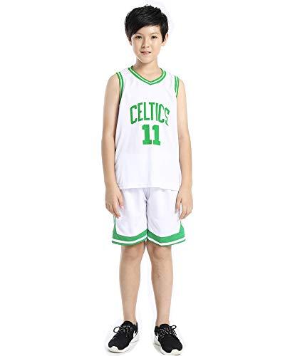 Hanbao Kinder Junge NBA Irving 11# Celtics Retro Basketball Shorts Sommer Trikots Basketballuniform Top & Shorts Basketball Anzug