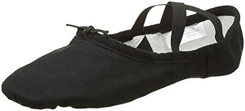SANSHA 52C FINESSE 2 Chaussure de danse Demi-pointes pour Femme en Coton - Noir - 36 EU (Taille Fabricant: 6)