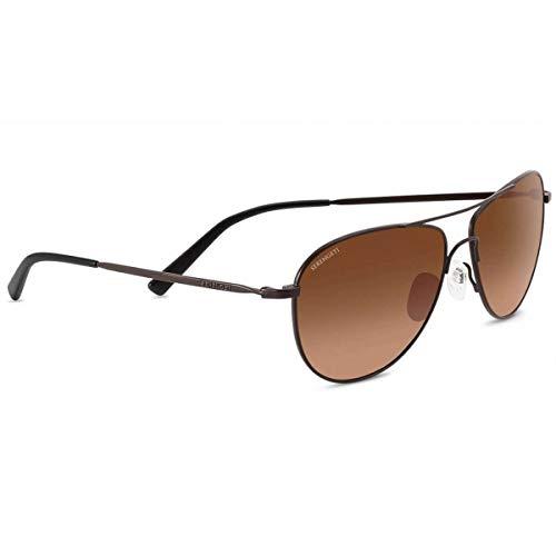 Serengeti alghero, occhiali da sole unisex-adulto, satin dark espresso, medium
