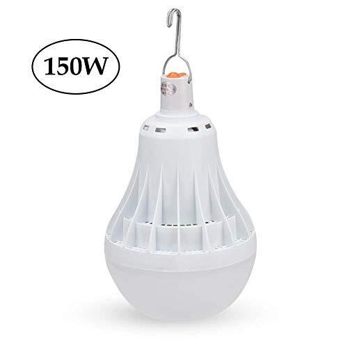 MYY LED-Licht zum Camping Weiß E27 Notfallbeleuchtung für Zuhause, Angeln, Camping, Wandern, Rucksackreisen etc,150W