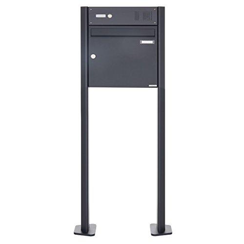 Standbriefkasten Design BASIC 380-P mit Klingel- Sprechteil – Anthrazitgrau 7016 (1 Parteien) - 3