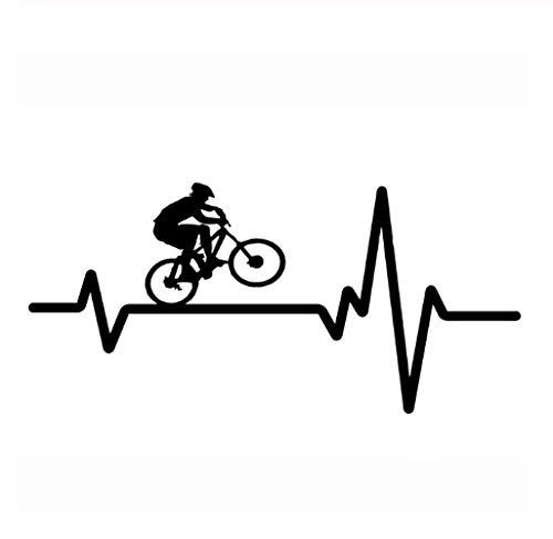 LHYEY 2 Stücke Schwarz/Silber Auto Aufkleber Radfahren Mountainbike Helm Herz Aufkleber Vinyl Auto Aufkleber 16,9 cm * 7,9 cm