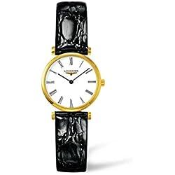 Longines L42092112 - Reloj Analógico Para Mujer, color Blanco/Negro