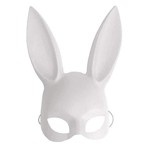 AiBest Halloween-Maske für Cosplay/Cosplay/Halloween/Party/Kostüm, Bunny-Ohren, weiß
