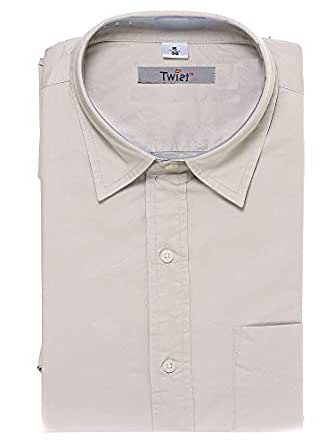TWIST99 Men's Casual Linen Plus Size Big Size Shirt for Mens - Half Sleeves Shirts for Men - Regular fit Shirts for Men (XL to 7XL)