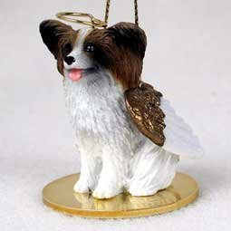 Papillon (brown/white) Dog Angel Figurine by Conversation Concepts -