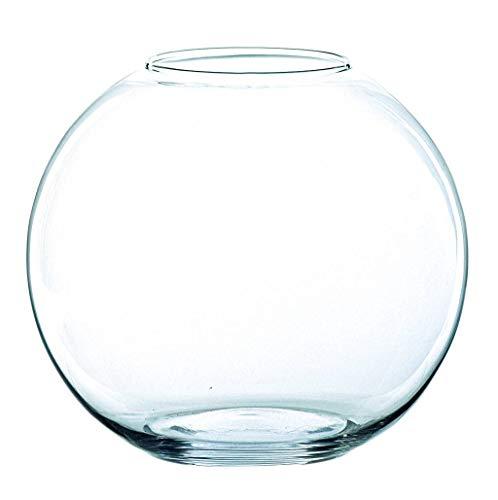 INNA-Glas Kugelvase TOBI aus Glas, klar, 10cm, Ø 12,5cm - Teelicht Glas - Vase Kugel