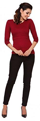 Zeta Ville - Top de grossesse ras du cou - couches d'allaitement - femme - 988c Cramoisi