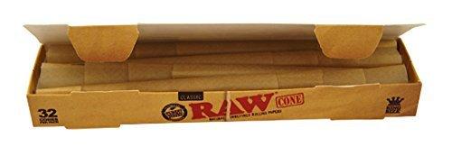 Raw 64x konische Hülsen ungebleicht (2x32) Jointhülsen Joint Cones pre-rolled Drive Cone