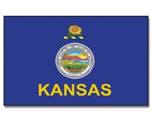 Kansas drapeau 90 x 150 cm