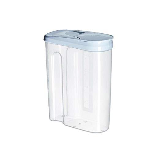 SAOJI Küche Lebensmittelbehälter Seal Pot Tee Kaffee Süßigkeiten Vorratsbehälter Kunststoff Getreide Snacks Box Cookie Kanister Gläser für Gewürze, Blau, M - Tee-ring-cookies