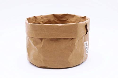 B&P Italia Stockholm - Bolsa para Pan, Fibra de celulosa Avana, diámetro 19 x 12 cm