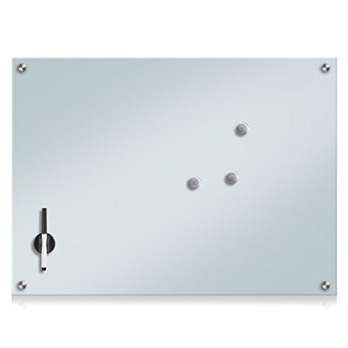 Zeller 11651 - Pizarra de Madera, Cristal, Vidrio, weiß, 75 x 55 cm