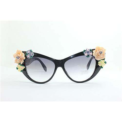 Sonnenbrillen Mode Strand Fahren Urlaub Angeln for Frauen Graceful Handmade Flower Sommer UV-Schutz Sonnenbrillen (Farbe : Sunglasses)