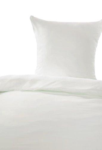 Bettwäsche Linon weiß 155x220 cm Hotelbettwäsche